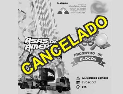 O carnaval em Belo Jardim é cancelado