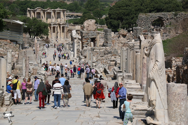 Heading to the popular attraction site called Ephesus in Turkey