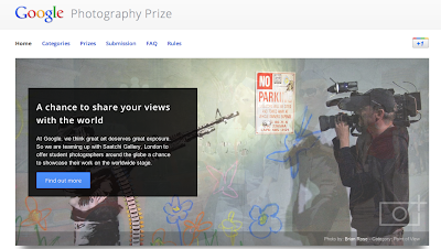 Student Photography prize landing page