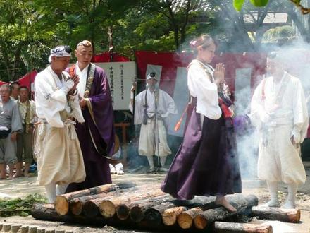 Hiwatari Shugyou (fire crossing) at Senkoji Temple, Ikoma, Nara