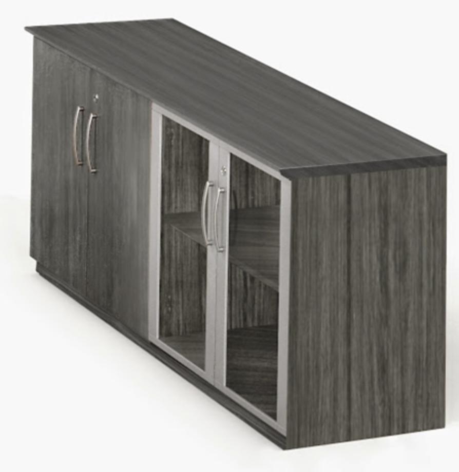 Medina Gray Steel Wall Cabinet by Mayline