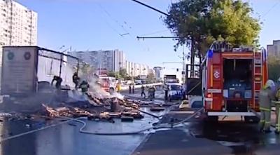 Взрыв и пожар на Варшавке движение в центр открыто