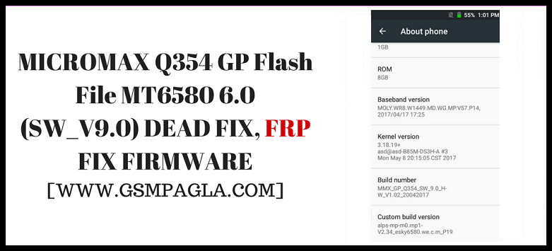 Micromax Q354 Gp Firmware Flash File (SW_V9 0) Stock Rom