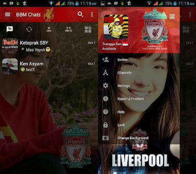BBM MOD Liverpool Versi Terbaru with Change Background v3.0.1.25 APK