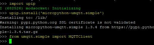 Instalando o módulo uMQTT na ESP32