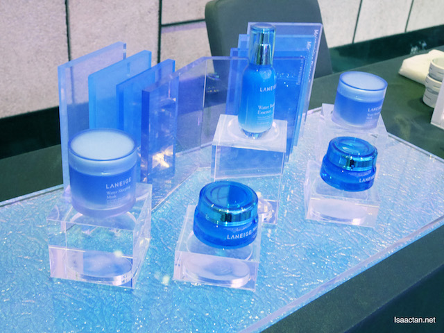 Laneige products at the launch event