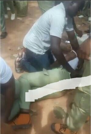 Female Corper Suddenly Collapses In Abuja (Photo)
