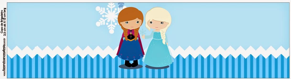 Etiquetas para Imprimir Gratis de Frozen Niñas para Navidad Azul.