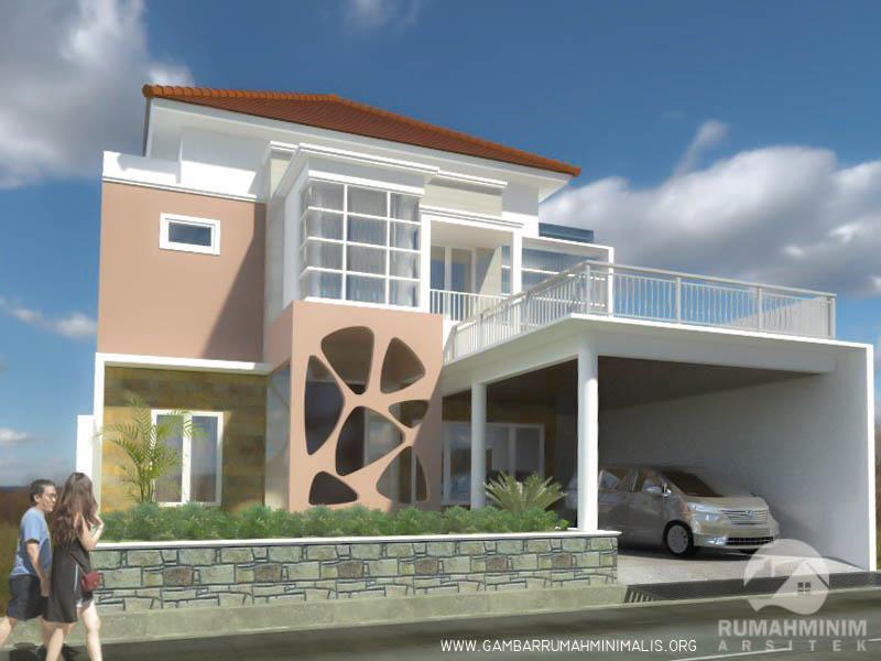 desain rumah santi surabaya 2 lantai
