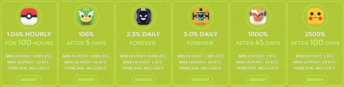 Инвестиционные планы Pokecoin Online