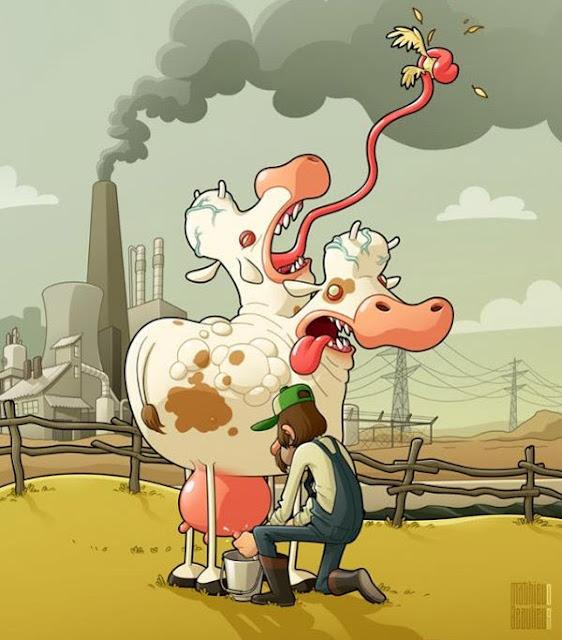 Meme de humor sobre una posible distopía medioambiental