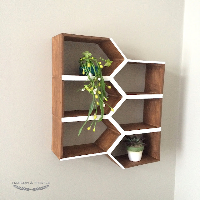 DIY Geometric Wall Shelf MinWax IDS17 Harlow & Thistle 3
