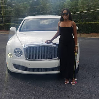 Photos and Video;Linda Ikeji buys self 120 Million Naira Bentley as push present