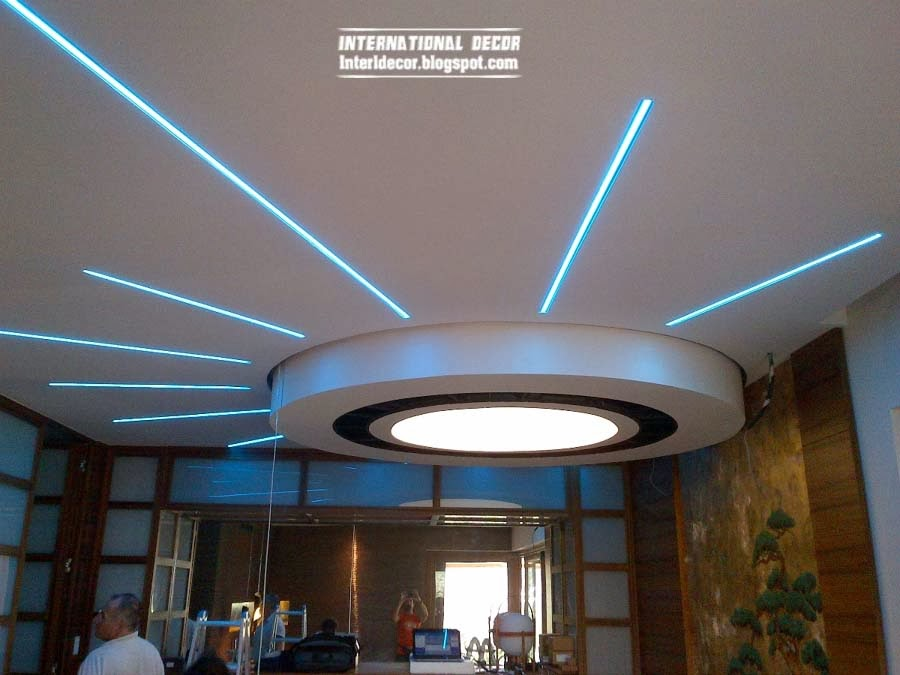 Pop False Ceiling Designs Suspended
