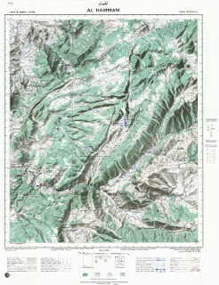 Carte Topographique AL-HAMMAM Morocco 50000 (50k) Topographic map free download