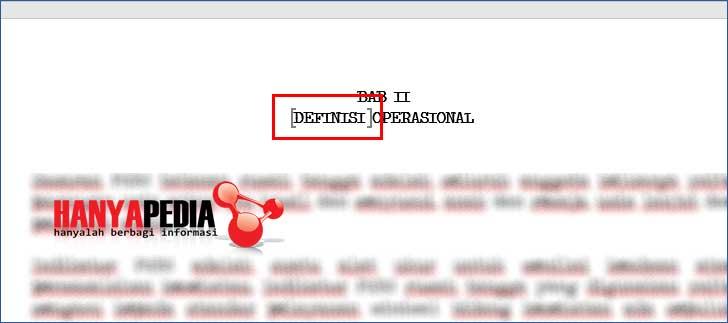 Cara memunculkan icon bookmark di word