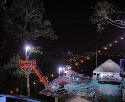 Puncak Mas Bandar Lampung Malam Hari