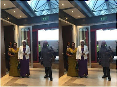 Aisha Buhari arrives UK after week long participation at the United Nations General Assembly 2016 in New York, USA