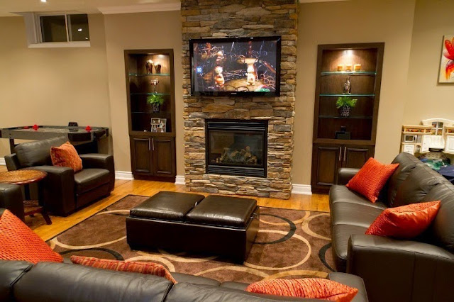 paint color ideas basement family room
