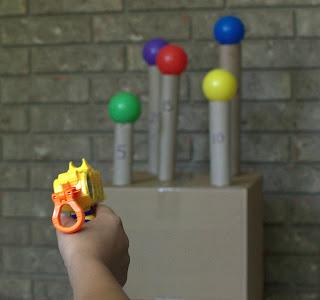 Spring Break Fun: Nerf Target Practice