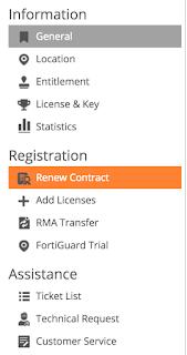 Fortigate renew contract