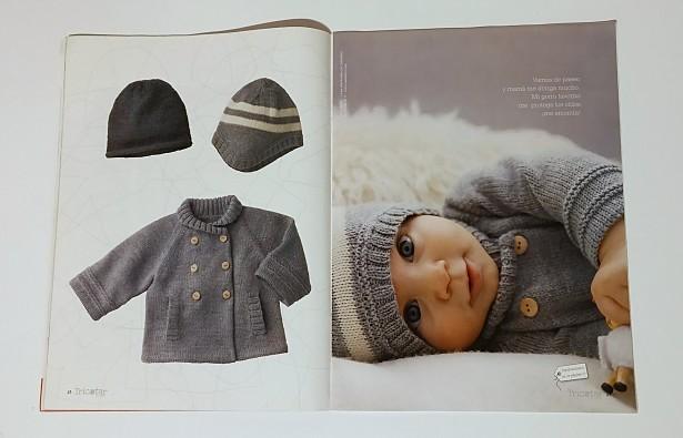 Con hilos, lanas y botones: abrigo de punto para bebé