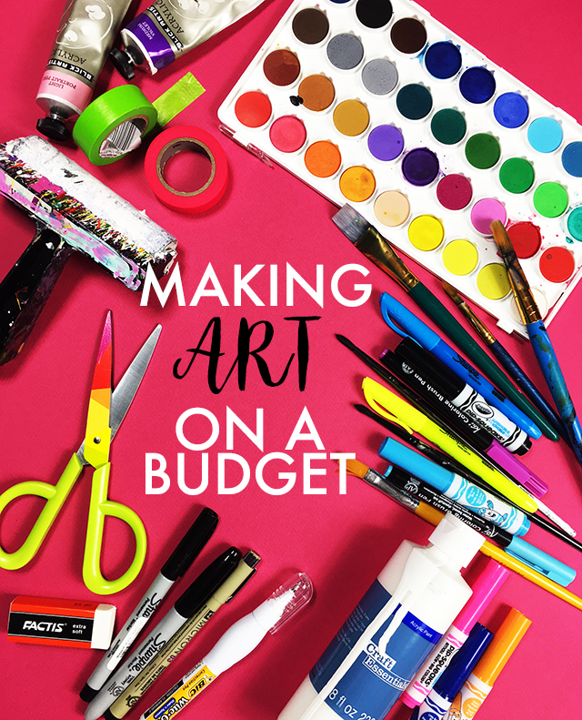 making art on a budget