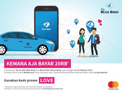 Cara Menggunakan Promo LOVE 'Kemana Aja Bayar 20 ribu' dari Blue Bird