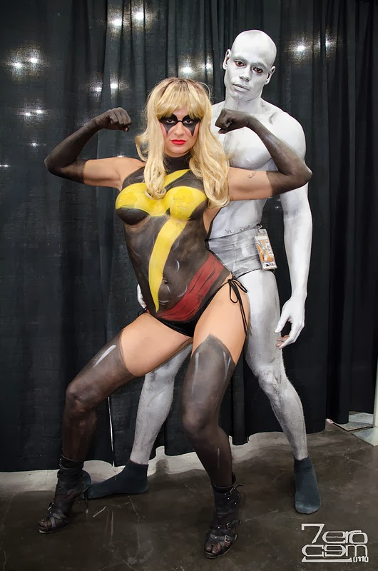 Body Painting sexy cosplay - Ms. Marvel