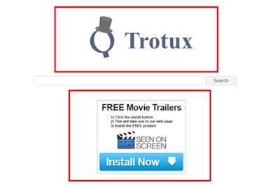 Trotux Fake Search Engine