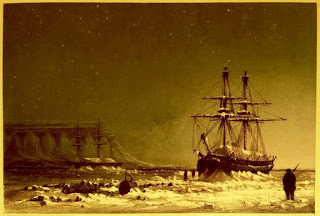 """Noon in Mid-Winter"" by W. H. Brown from Ten coloured views taken during the Arctic expedition of Her Majesty's ships 'Enterprise' and 'Investigator,"