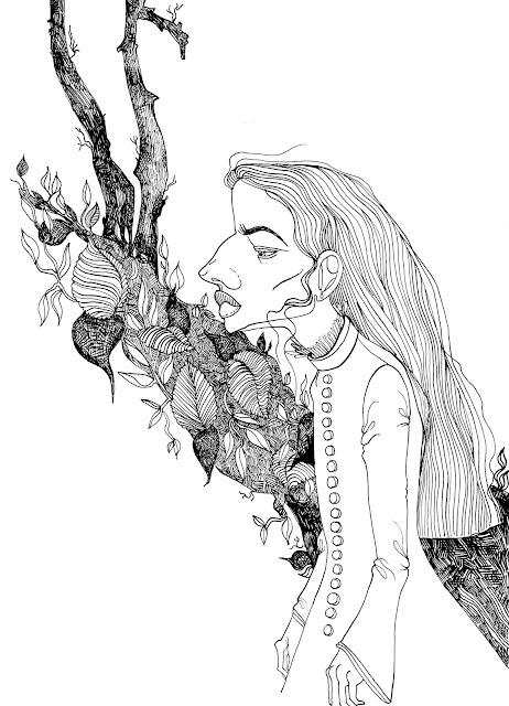 Alice in Wonderland Ink Fan Art