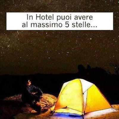 In Hotel puoi avere al massimo 5 stelle