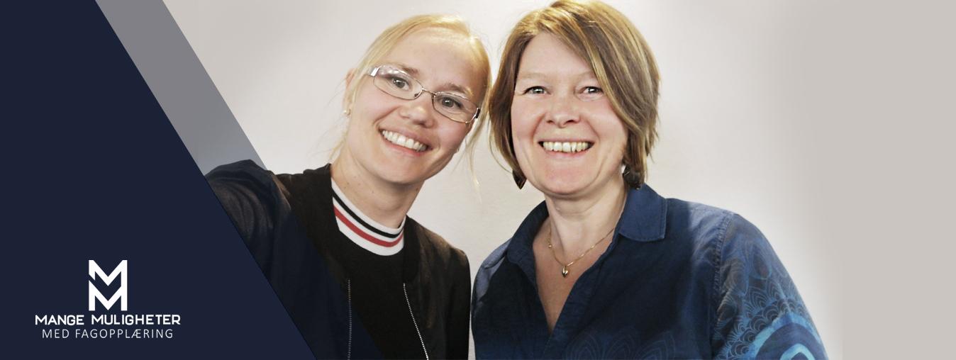 ferskingene Hege og Elin på opplæringskontoret til Trondheim kommune