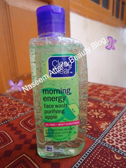 Clean and clear face wash review. Clean and clear morning energy face wash purifying apple review ~ Naseem Attar's Beauty Blog