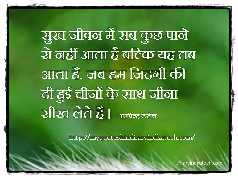 Happiness, life, learn, Hindi, Thought, Quote,