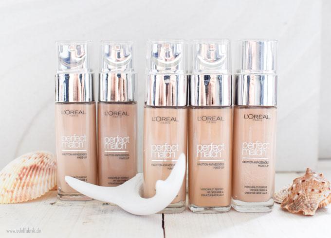 L'Oreal Perfect Match Foundation, Reihe 2 bis 3 für mittlere Hauttöne