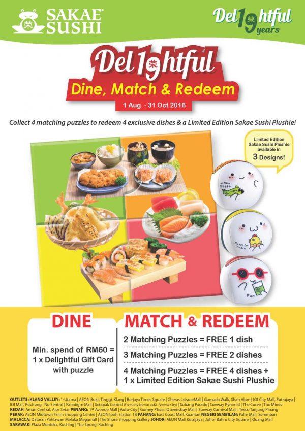 Sakae Sushi 19th Anniversary - Dine, Match & Redeem Promotion ...