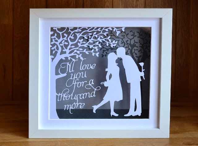 The Kiss first anniversary papercut