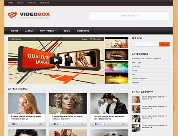 VideoBox Blogger Template untuk Blog Foto dan Video