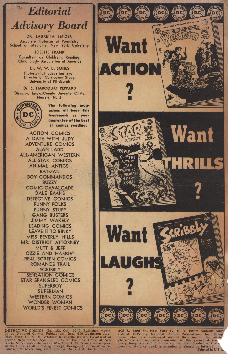 Read online Detective Comics (1937) comic -  Issue #152 - 2