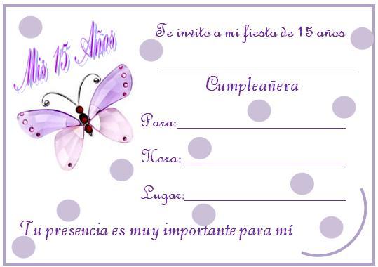 Tarjetas De Invitación Para Quince Años Gratis Imagui