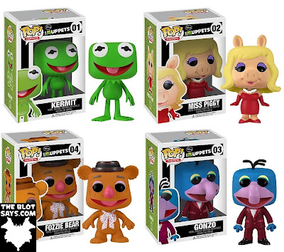 The Muppets Pop! Series 1 by Funko - Kermit, Miss Piggy, Fozzie Bear & Gonzo Vinyl Figures
