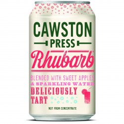 Deliciousness in a can; rhubarb and apple sparkling drink
