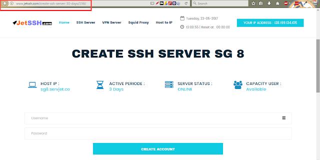 SSH Premium 1 Bulan atau 30 Hari Gratis