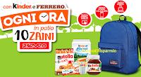 Logo Con Kinder e Ferrero puoi vincere 10 zaini Seven ogni giorno