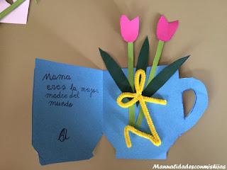 Manualidades-para-niños-dia-de-la-madre-tarjeta-flores