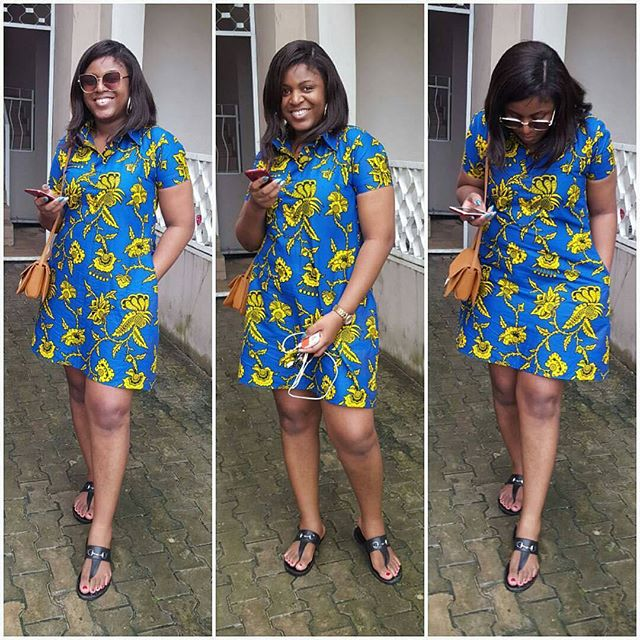 African Print Dresses; Creative Ankara Styles Short Gown For African ...