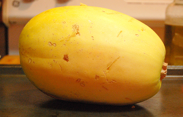 Whole yellow spaghetti squash