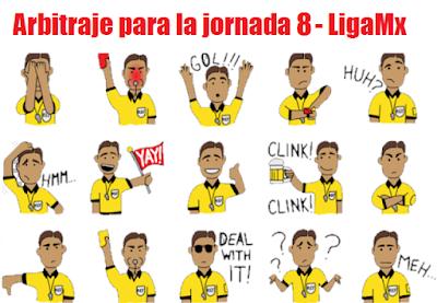 Arbitros designados para la jornada 8 del futbol mexicano